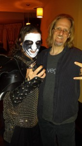 Mike and the Vegan Black Metal Chef at the Indiegogo kickoff party